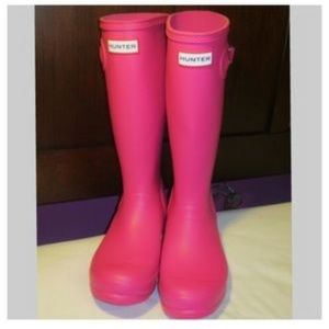 Hot pink tall new hunter boots